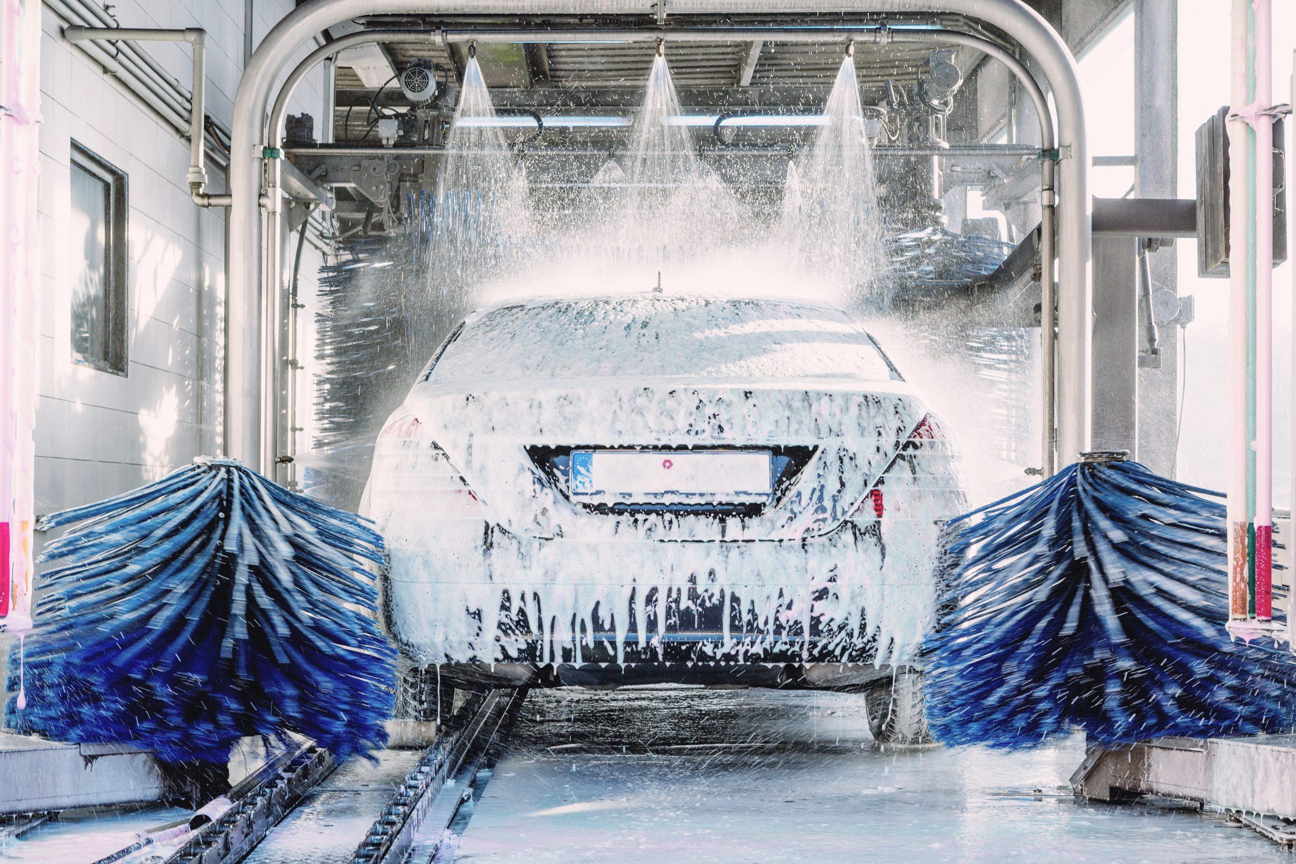 Car going through car wash